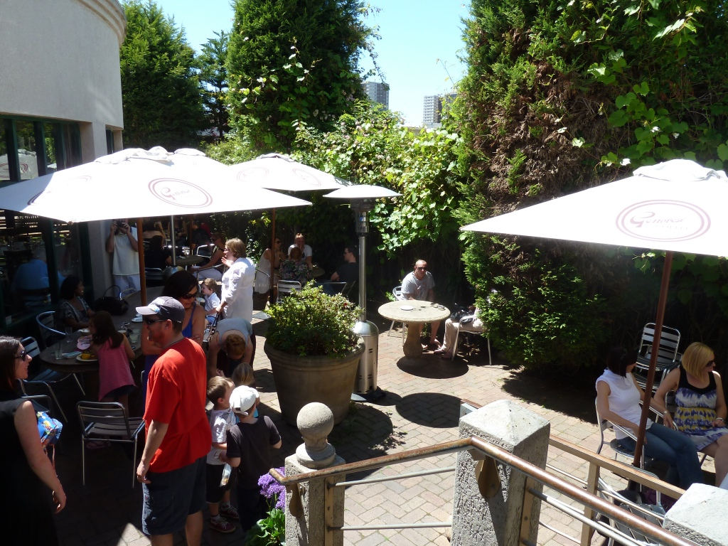 The Beer Garden at The Kingston Hotel Richmond in summer.