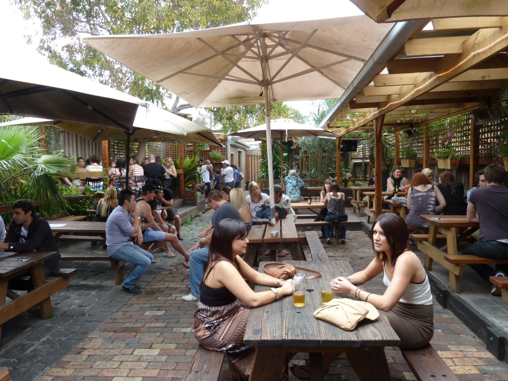 The beer garden at The Brunswick Green 2