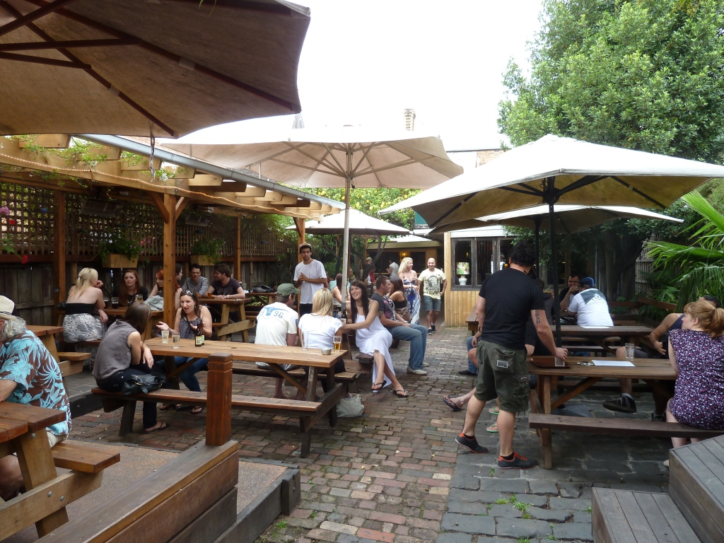 The beer garden at The Brunswick Green